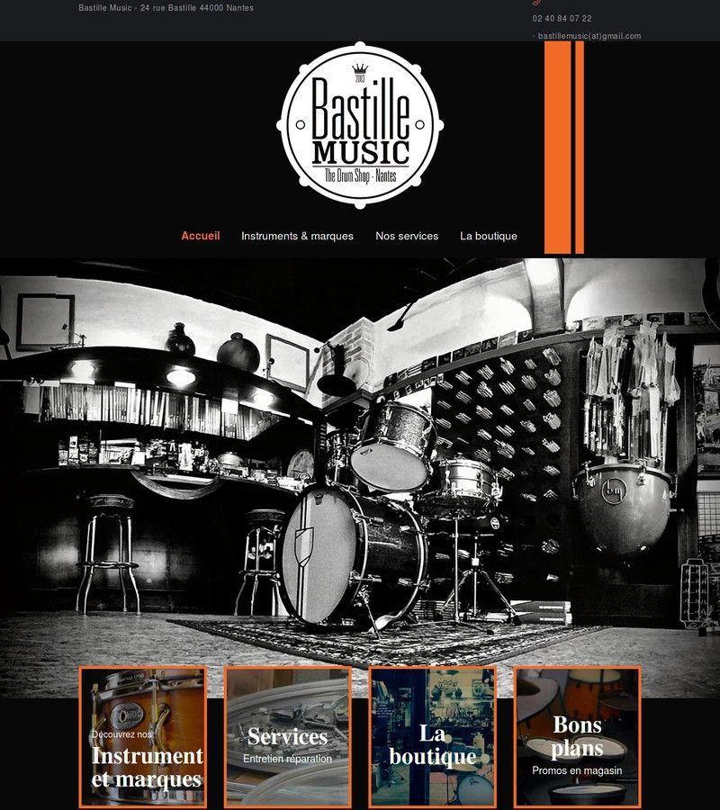 image de la page d'accueil du site bastillemusic.com