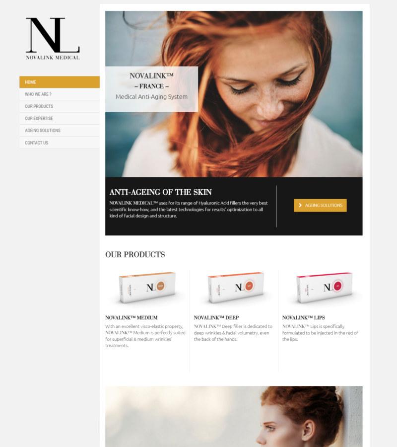 page d'accueil du site novalink.care
