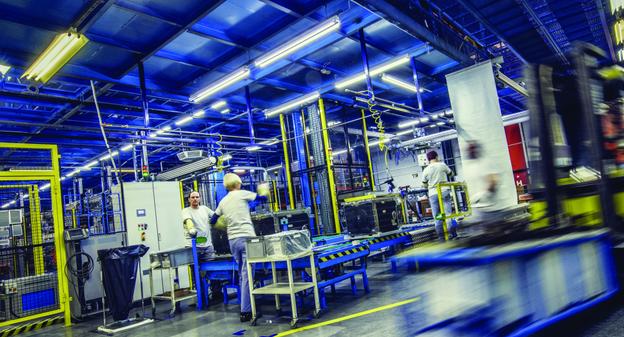 visualisation d'une chaine de production dans une industrie