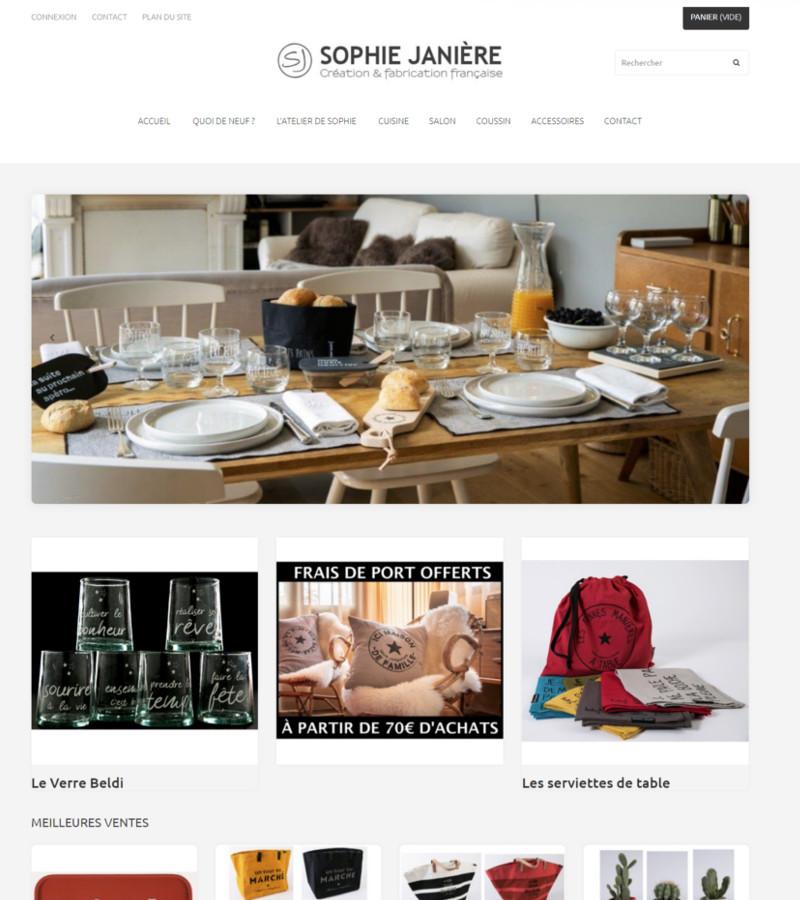 image de la page d'accueil du site sophie-janiere.fr