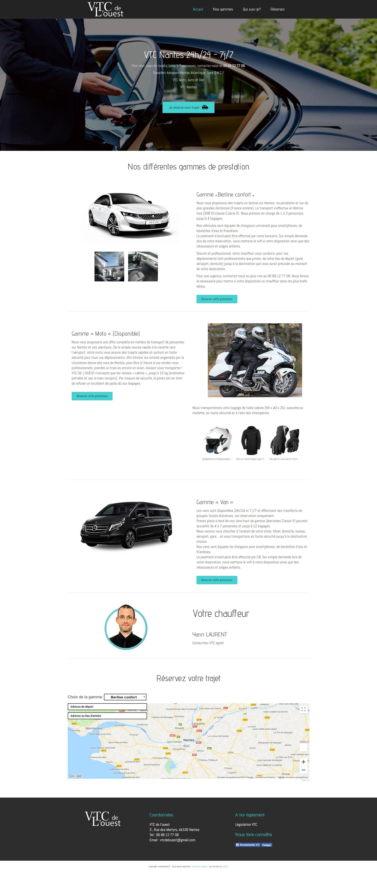 page d'accueil du site vtcdelouest.fr