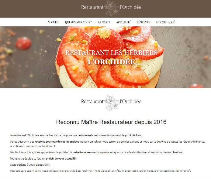 image de la page d'accueil restaurant-lesherbiers.fr